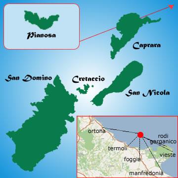 Cartina Puglia Isole Tremiti.Isole Tremiti Come Arrivare